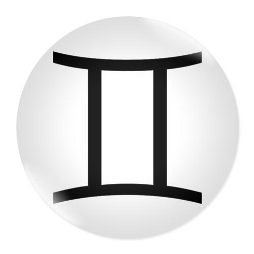 Значка със зодия Близнаци