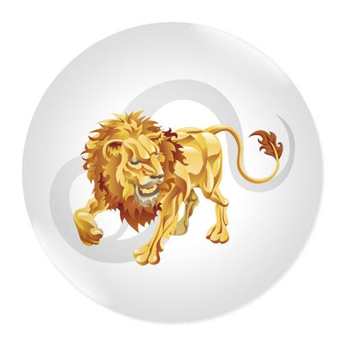 Значка със зодия Лъв