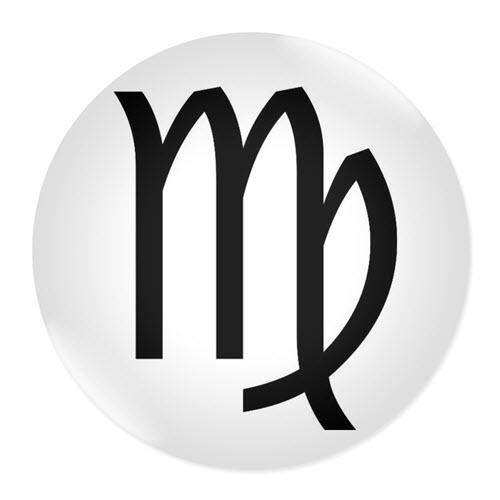 Значка със зодия Дева
