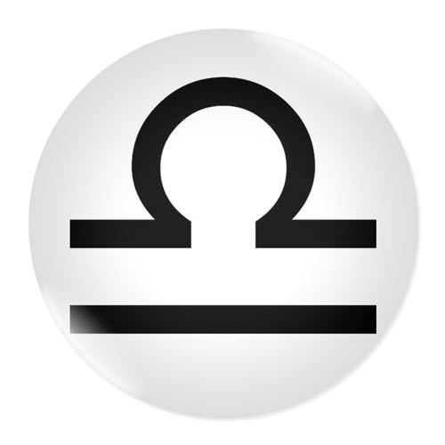 Значка със зодия Везни