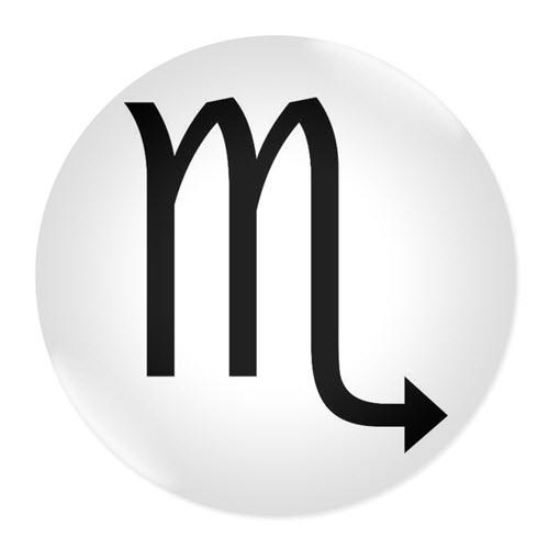 Значка със зодия Скорпион