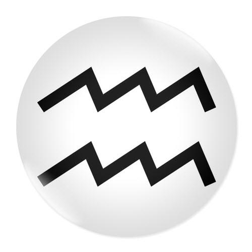 Значка със зодия Водолей