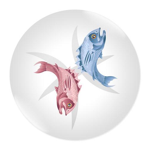 Значка със зодия Риби