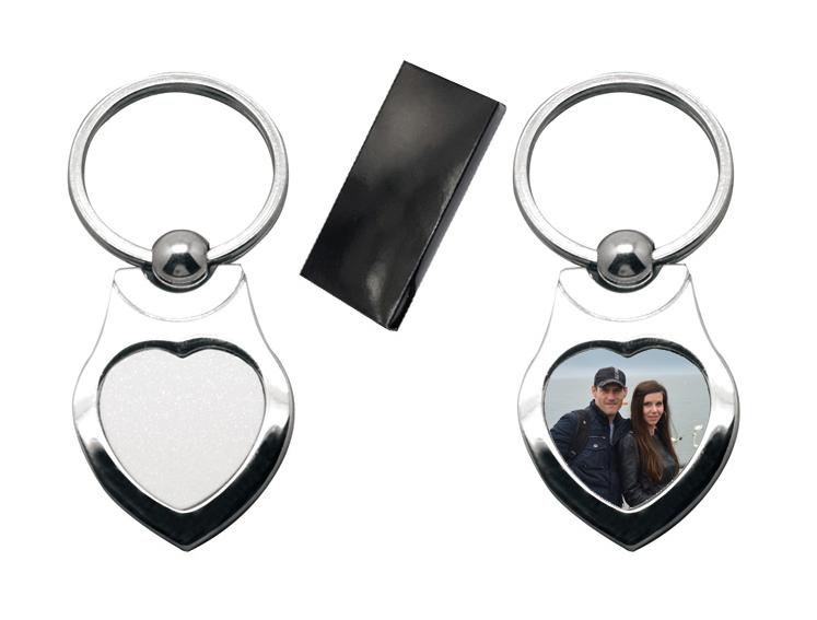 Метален ключодържател Сърце - Модел 2