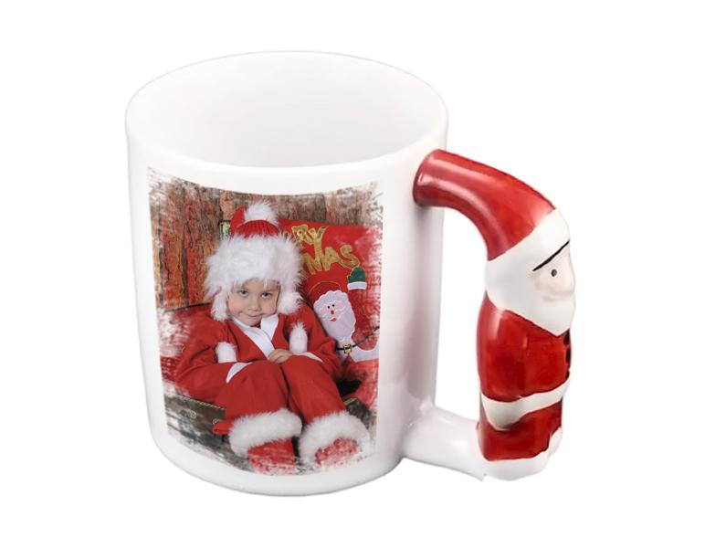 Коледна чаша със снимка