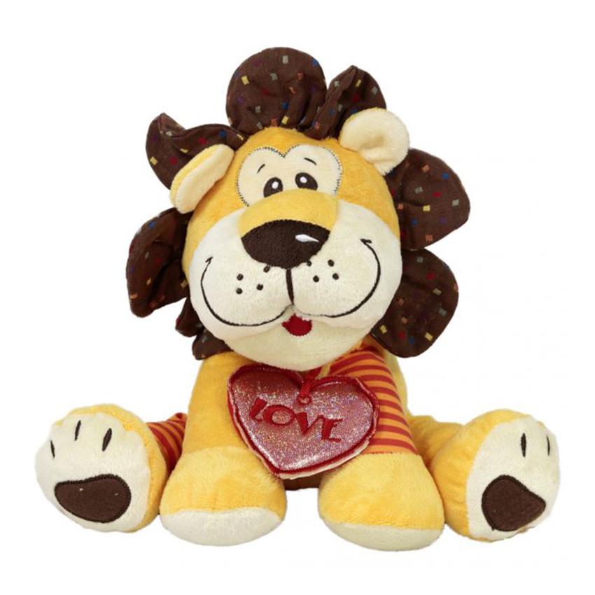 Лъв с медальон сърце