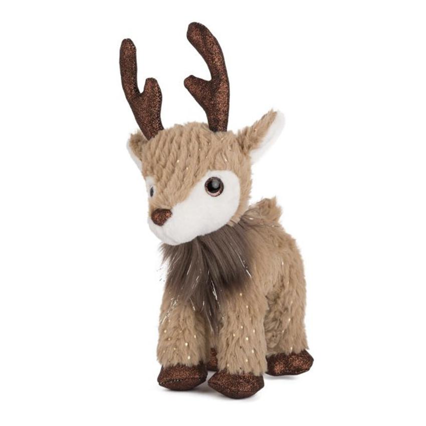 Коледен елен с брокатени рога