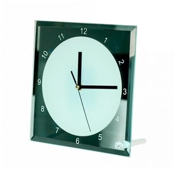 Стъклена рамка Часовник