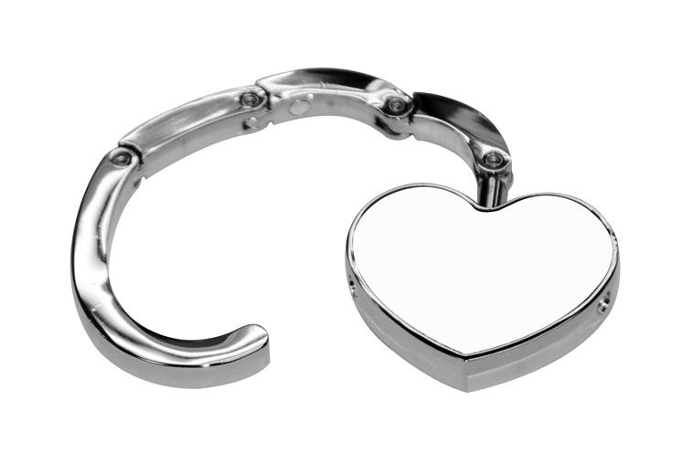 Метална закачалка за чанта Сърце