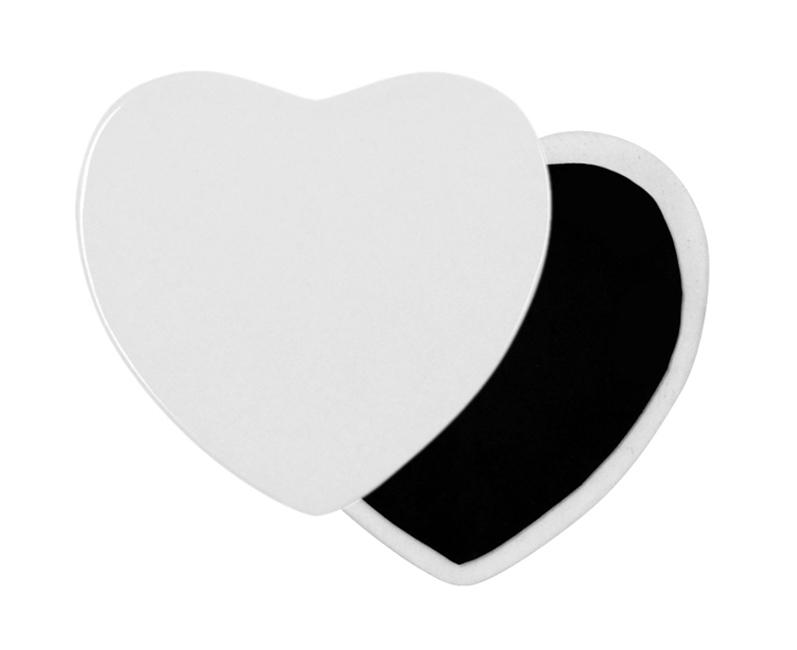 Сърцевиден керамичен магнит с размер 7х5х0,3см.