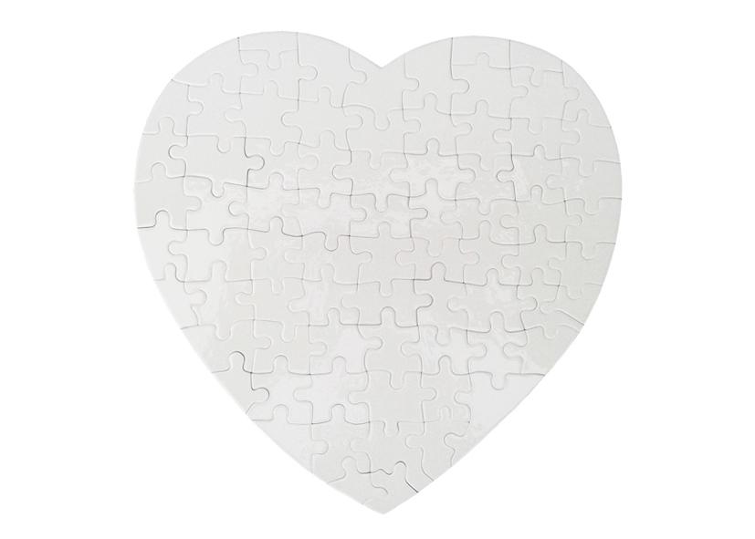 Сърцевиден пъзел: 19х19см.