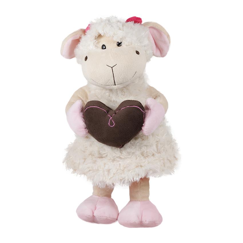 Бяла овчица с кафяво сърце