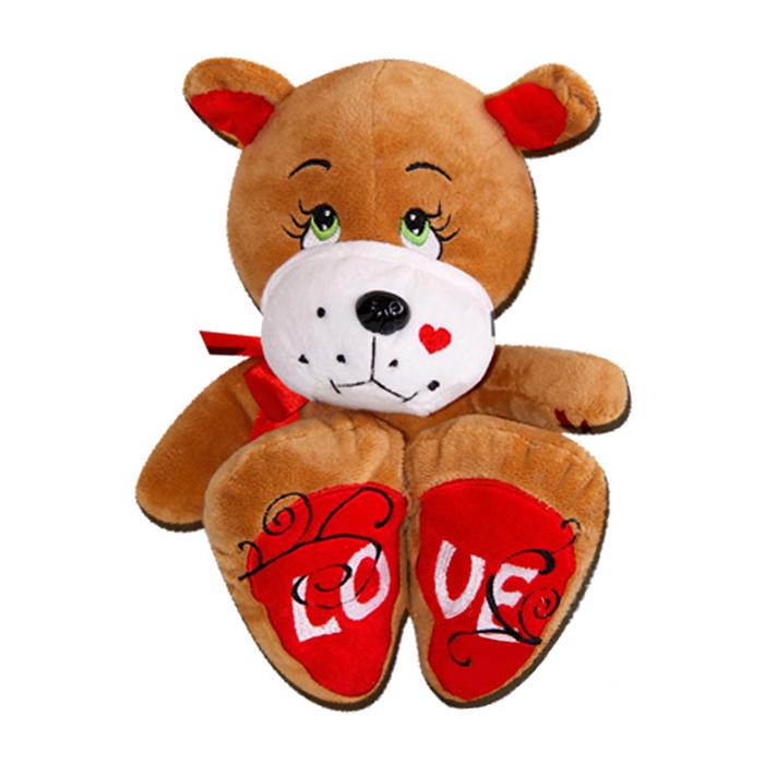 Плюшена играчка куче, LOVE, 25см.